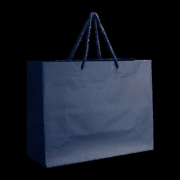 Navy Blue Medium Matte Shopper Bag