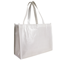White Laminated Convention Tote Thumb