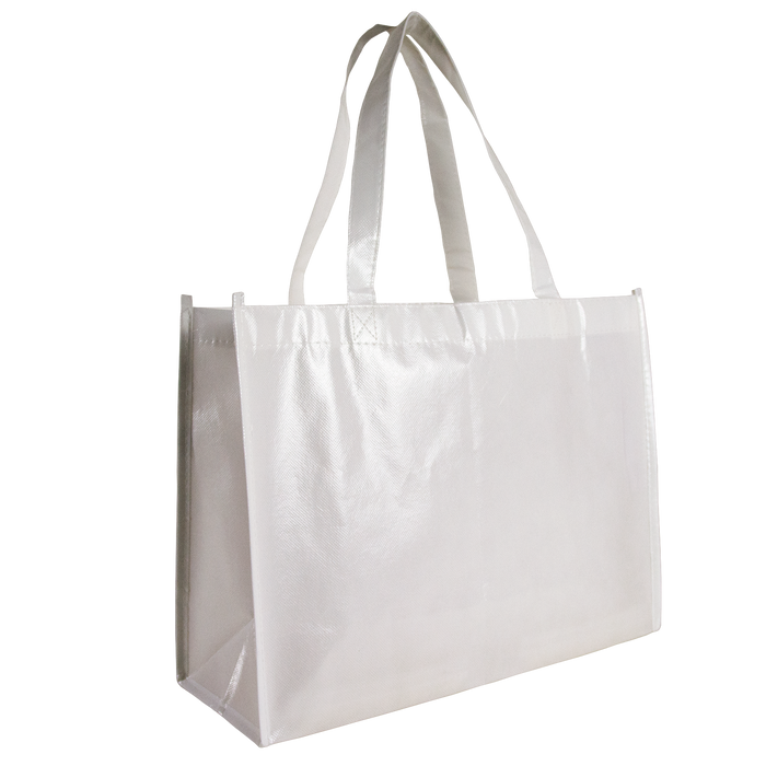 White Laminated Convention Tote