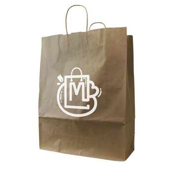 Tall Kraft Paper Shopper Bag