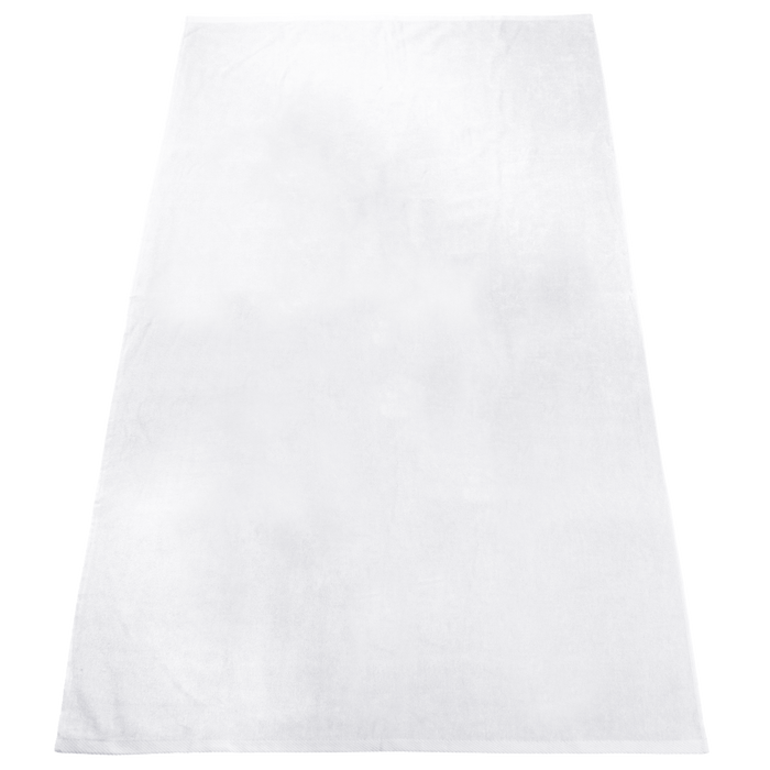 White Heavy Weight American Made White Beach Towel