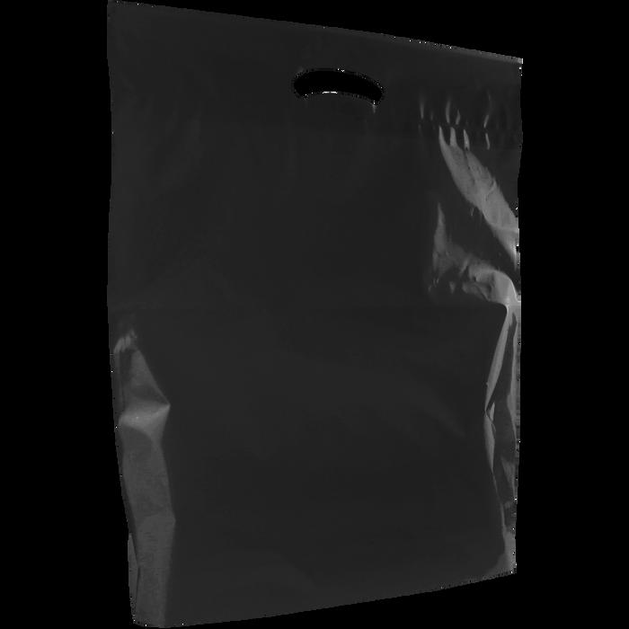 Black Large Eco-Friendly Die Cut Plastic Bag