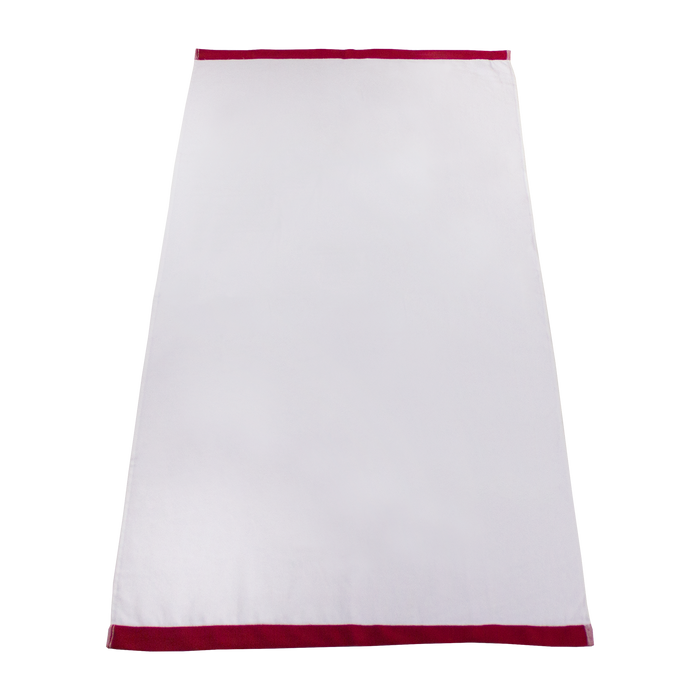 Red Colored Edge Beach Towel