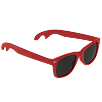 Red Panama Bottle Opener Sunglasses Thumb