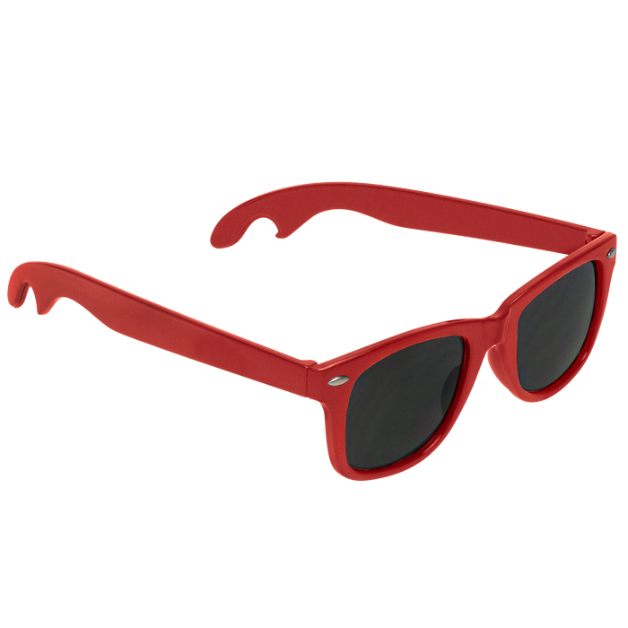 Red Panama Bottle Opener Sunglasses