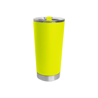 Neon Yellow Small Stainless Steel Insulated Tumbler Thumb