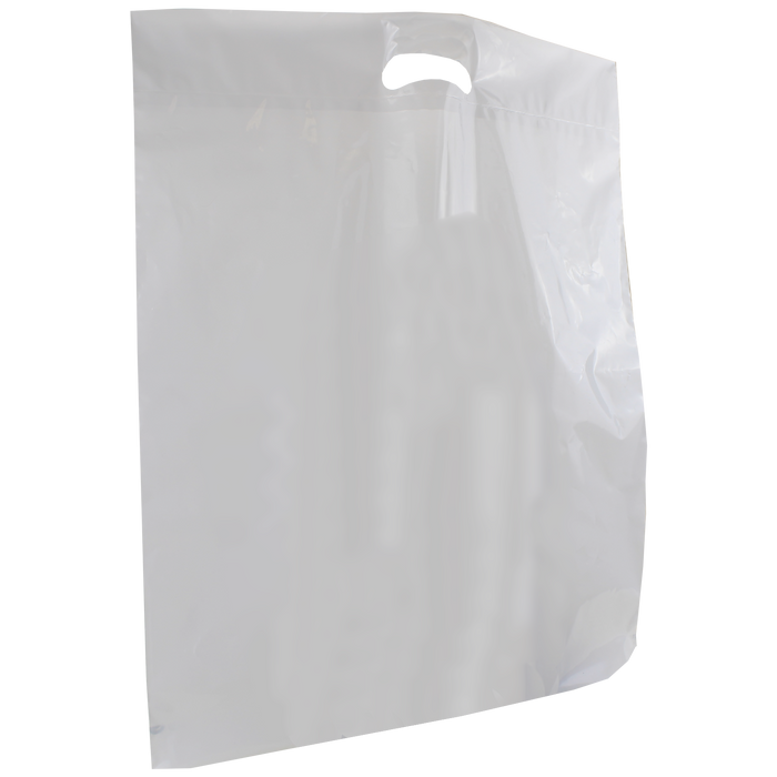 White Extra Large Die Cut Plastic Bag