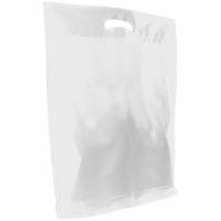 White Large Die Cut Plastic Bag Thumb
