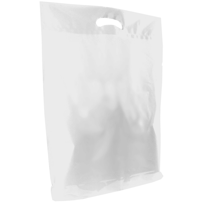 White Large Die Cut Plastic Bag