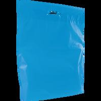 Blue Large Eco-Friendly Die Cut Plastic Bag Thumb