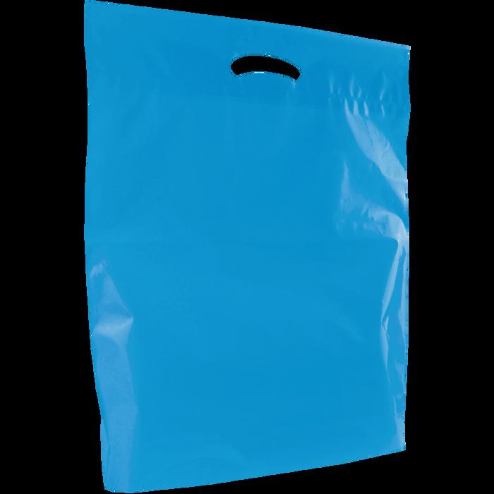 Blue Large Eco-Friendly Die Cut Plastic Bag