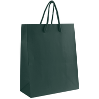 Hunter Green Small Matte Shopper Bag Thumb