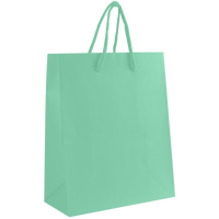 Aqua Small Matte Shopper Bag Thumb