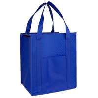 Royal Blue Insulated Tote with Pocket Thumb