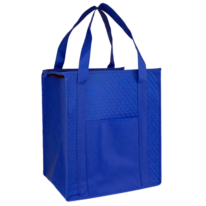 Royal Blue Insulated Cooler Tote with Pocket