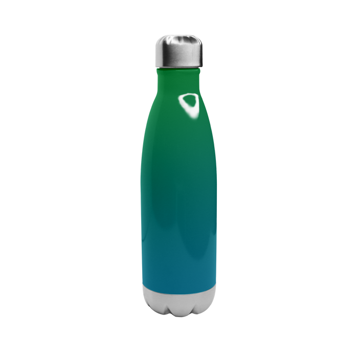 Green/Blue Ombre Vacuum Insulated Thermal Bottle