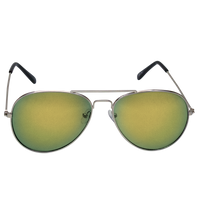 Yellow Mirrored Miami Aviator Sunglasses Thumb