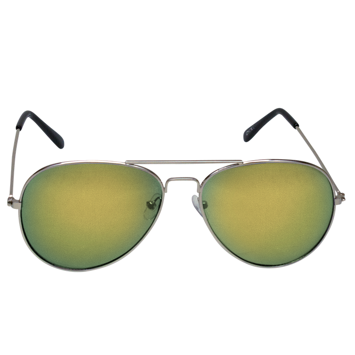 Yellow Mirrored Miami Aviator Sunglasses