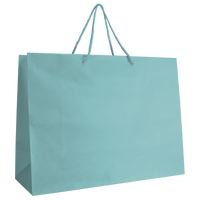 Aqua Large Matte Shopper Bag Thumb