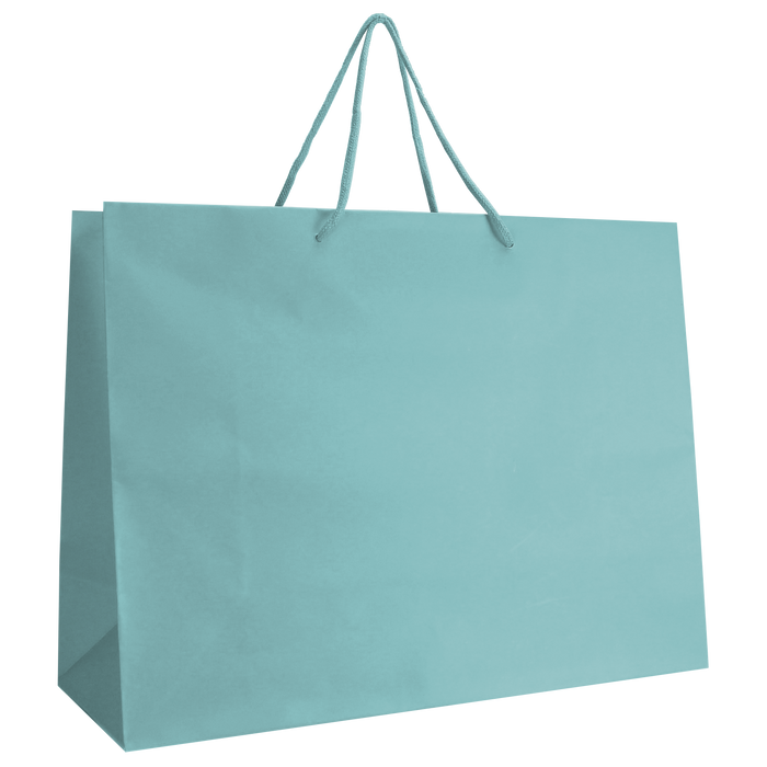 Aqua Large Matte Shopper Bag