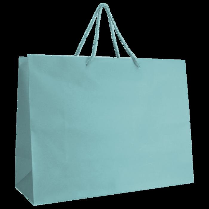 Aqua Large Matte Shopper Bag