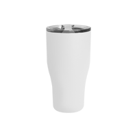 Matte White Large Stainless Steel Insulated Tumbler Thumb