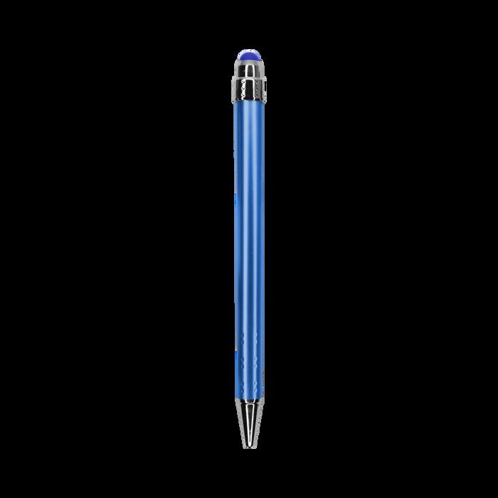 Blue with Black Ink Chrome Stylus Pen