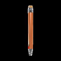 Orange with Blue Ink Chrome Stylus Pen Thumb