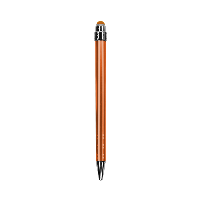 Orange with Blue Ink Chrome Stylus Pen