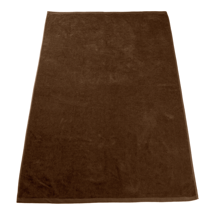 Brown Seascape Color Beach Towel