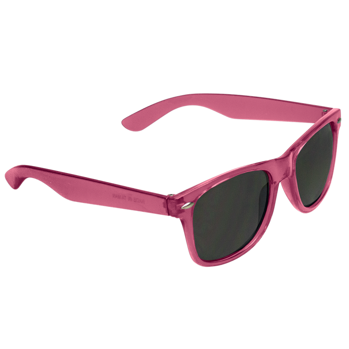 Transparent Pink Classic Color Sunglasses