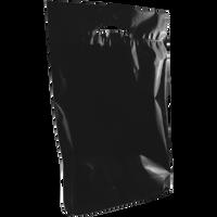 Black Medium Eco-Friendly Die Cut Plastic Bag Thumb