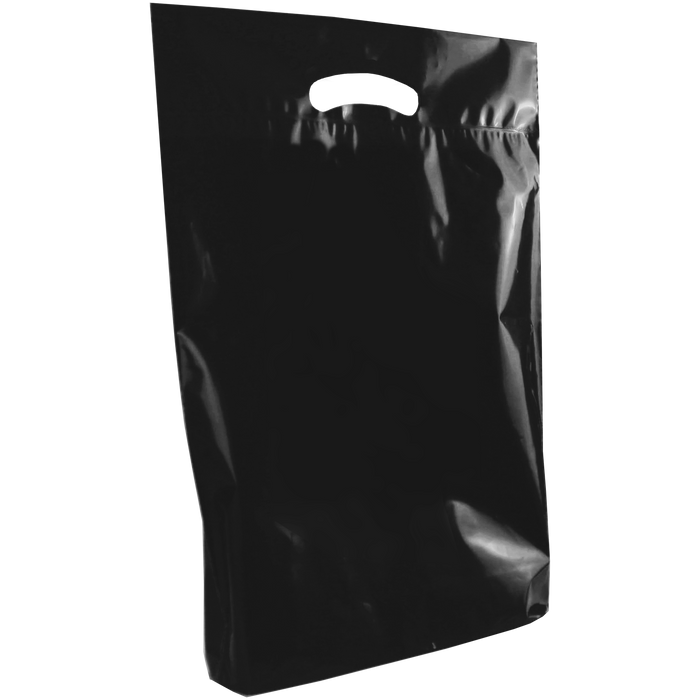 Black Medium Eco-Friendly Die Cut Plastic Bag