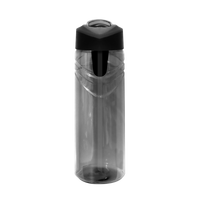 Graphite Sport Water Bottle with Flip Up Straw Thumb