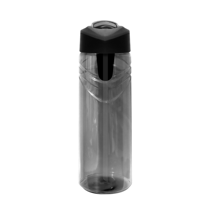 Graphite Sport Water Bottle with Flip Up Straw