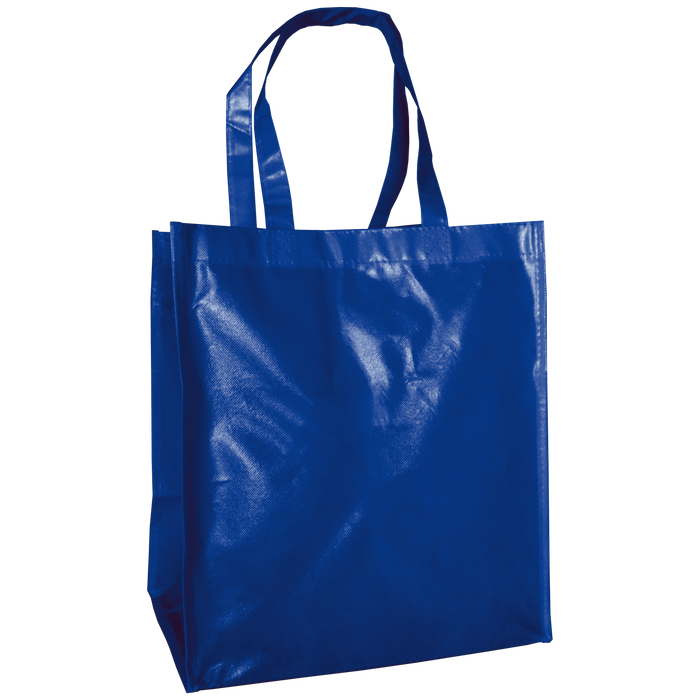 Royal Blue Laminated Big Storm Grocery Bag