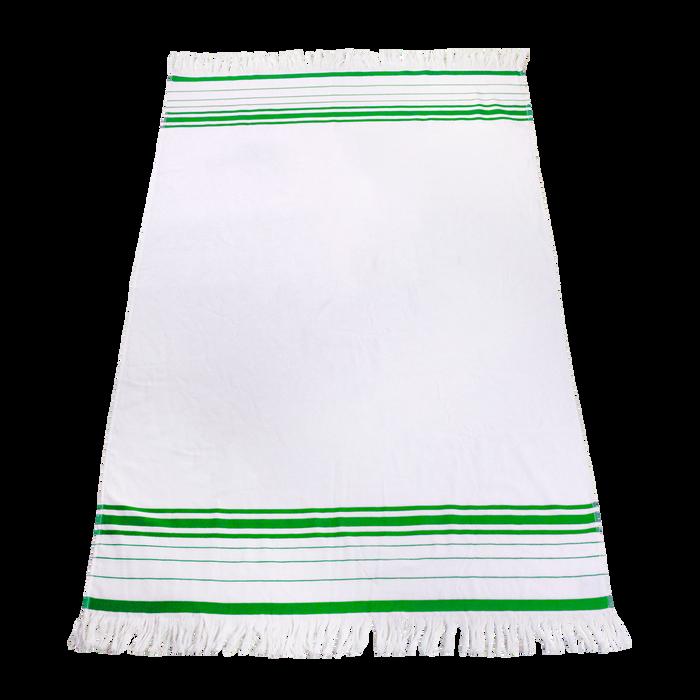 Lime Green Windsor Fringed Beach Towel