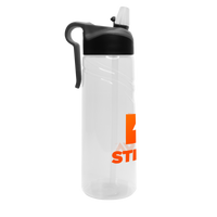 Sport Water Bottle with Flip Up Straw Thumb