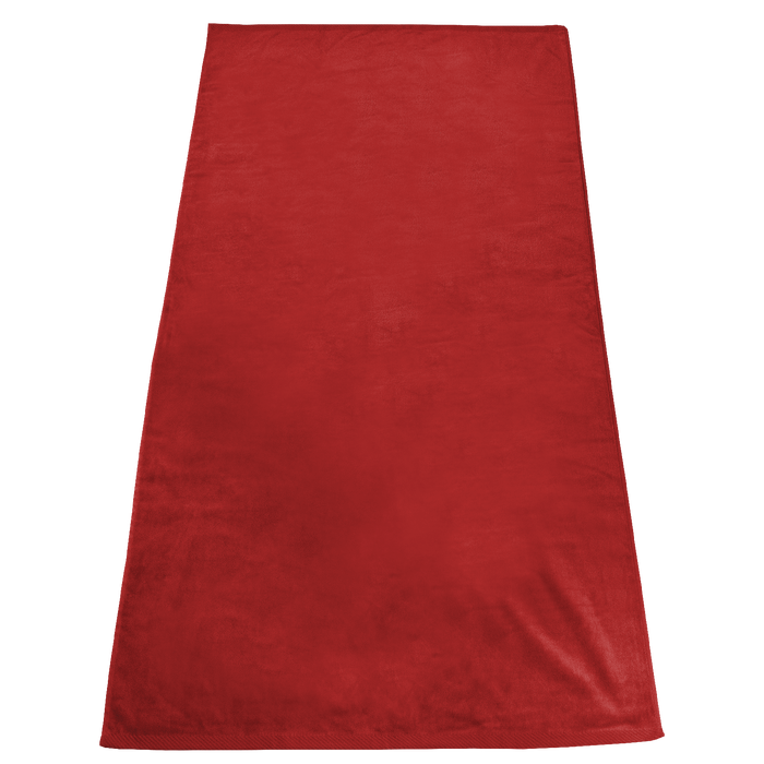 Red Gypsea Color Beach Towel