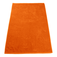 Orange Seascape Color Beach Towel Thumb