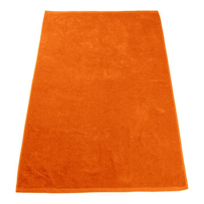 Orange Seascape Color Beach Towel