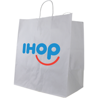 Extra Large White Paper Shopper Bag Thumb
