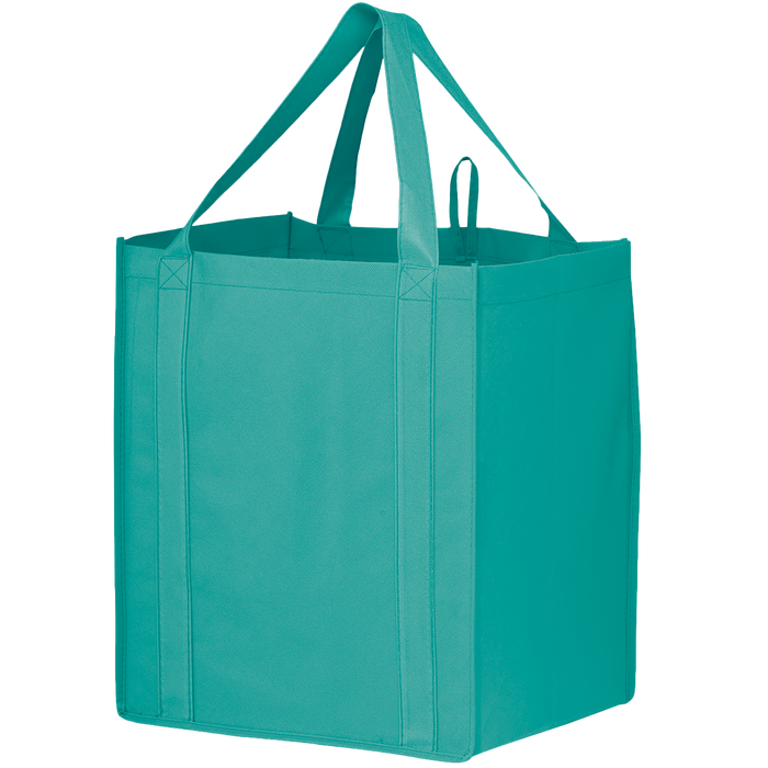 Teal Big Storm Grocery Bag