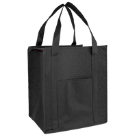 Black Insulated Cooler Tote with Pocket Thumb