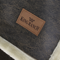 Rustic Faux Leather Throw Thumb
