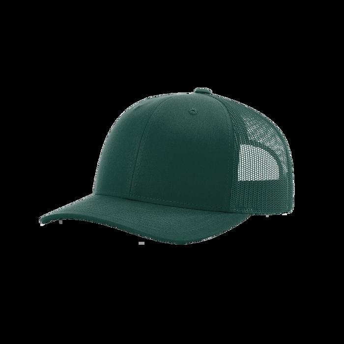 Dark Green Richardson Trucker Snapback Hat