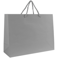 Platinum Medium Glossy Shopper Bag Thumb