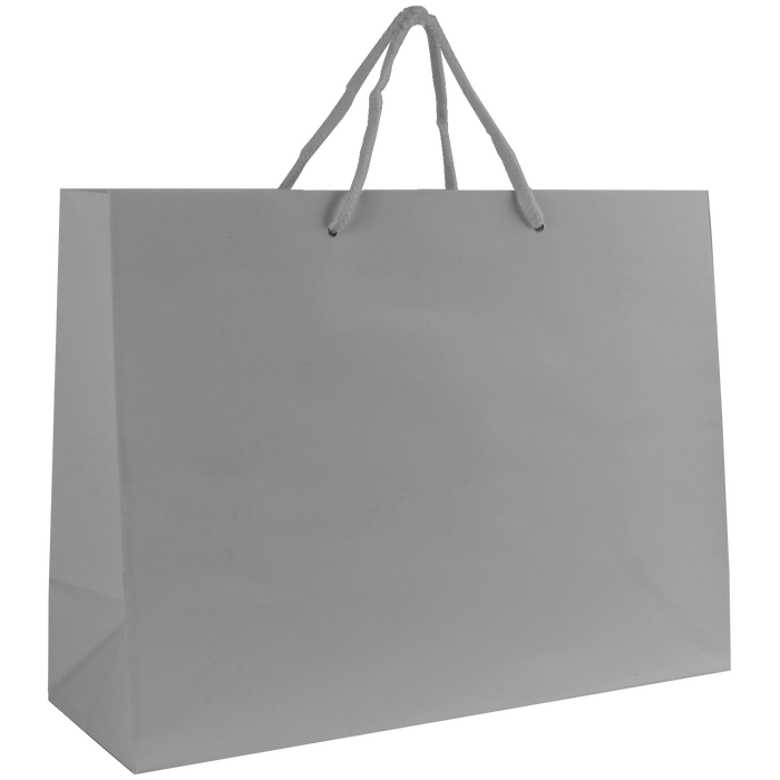 Platinum Medium Glossy Shopper Bag