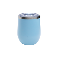 Matte Ice Blue Vacuum Insulated Stemless Wine Tumbler Thumb