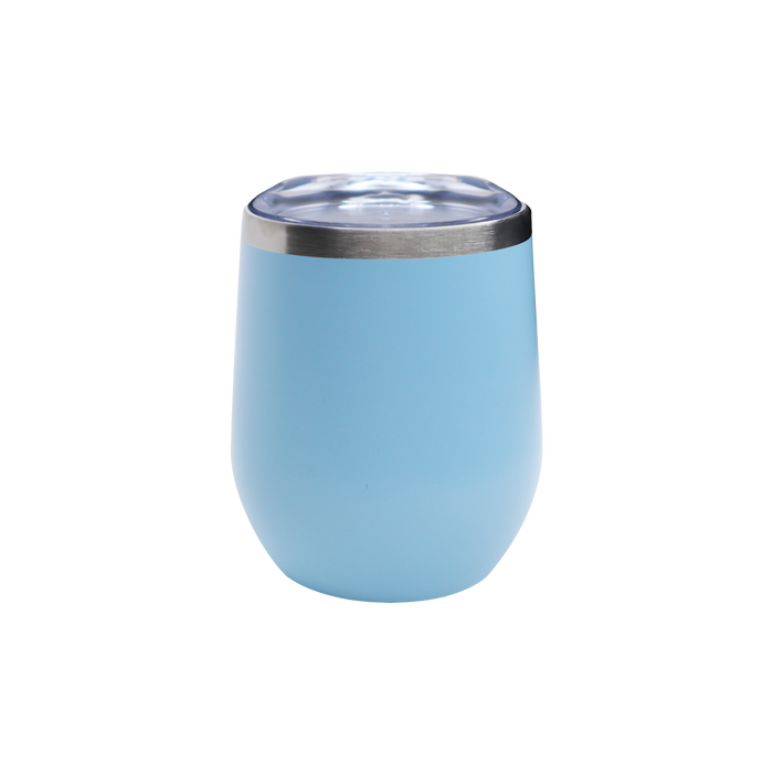 Matte Ice Blue Vacuum Insulated Stemless Wine Tumbler